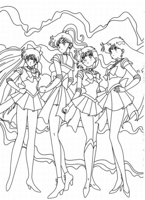 sailor moon lineart by brianna5899