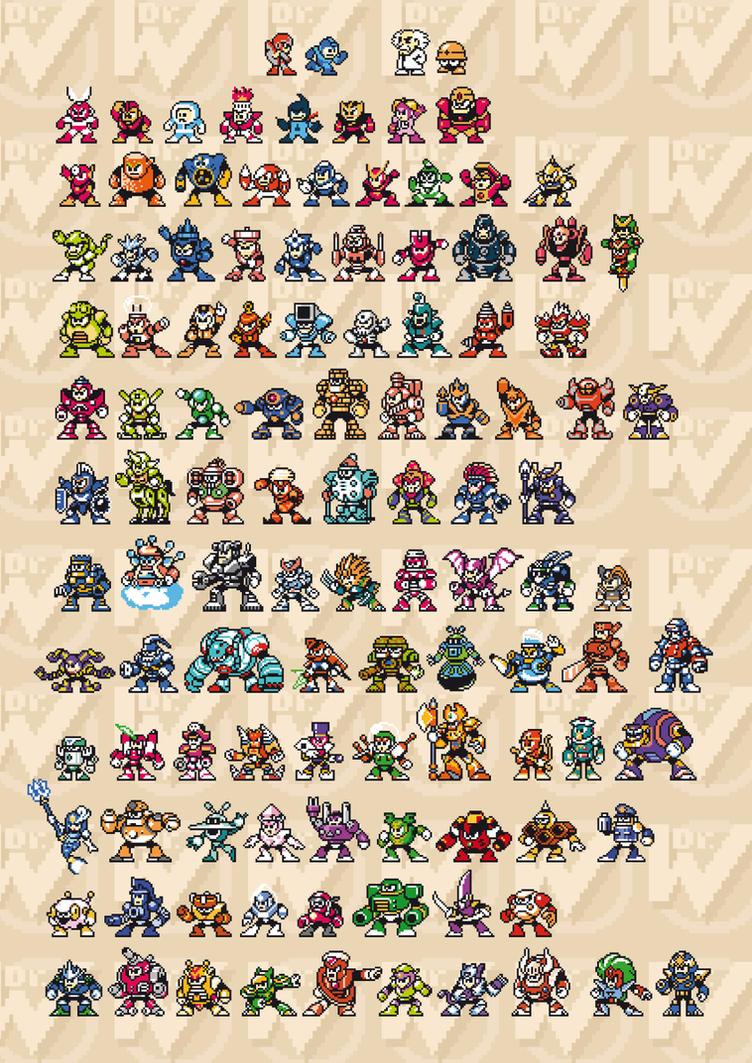Mega Man Sprites 8-Bit by abonny