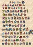 Mega Man Sprites 8-Bit V2