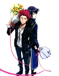 Project K-Mikoto Suoh and Munakata Reisi render