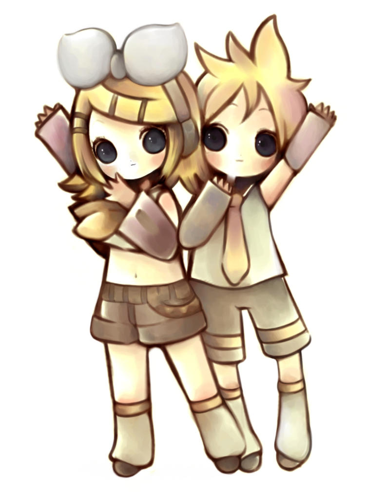 Kagamine twins by sakura-kindness