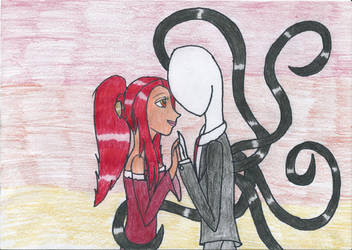 Slender and Aliaga by DarkTentacles0666