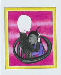Slenderman and Nati by DarkTentacles0666