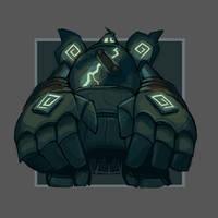 FTM: Ghost - Golurk 'Gholiath' by BummerForShort