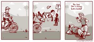 Battle waits for no bike