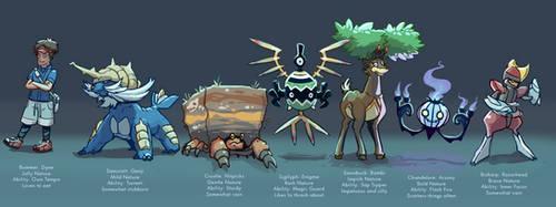 Pokemon White 2 team by BummerForShort