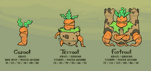 Caroot, Terroot, and Fortroot