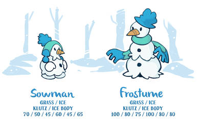 Sowman and Frostume by BummerForShort