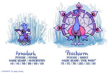 Amulark and Peacharm by BummerForShort