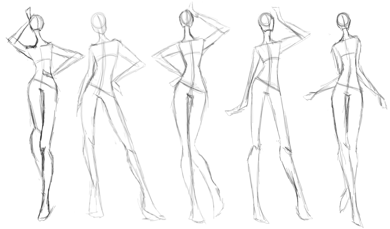 This is an image of Exhilarating Fashion Poses Drawing
