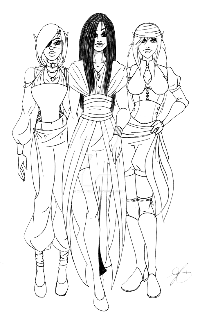 WiP: the Ladies of KDC (NPCs) by ArtSquirrel