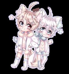 {Chibi commission} Misha and Oliver [ Speedpaint]