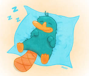 Asleep Perry the Platypus