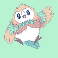 Pokemon Sun/Moon: Rowlet fanart