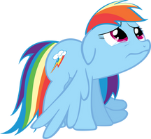 Rainbow dash is Sad by Tattooclown