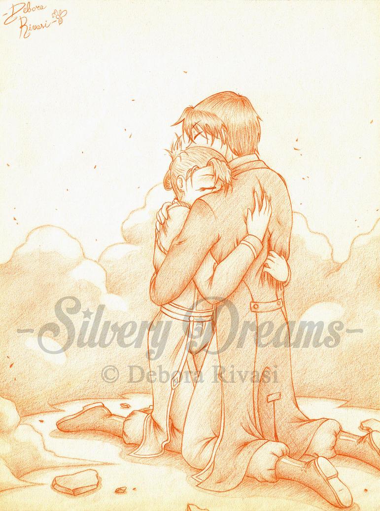 Abbraccio in battaglia - Royai by SilveryLugia