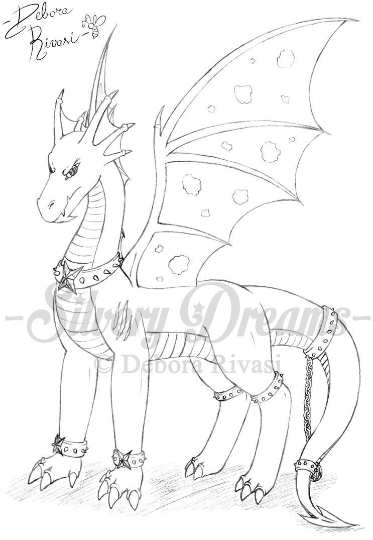 Sketch definitvo Krant - drago demone by SilveryLugia