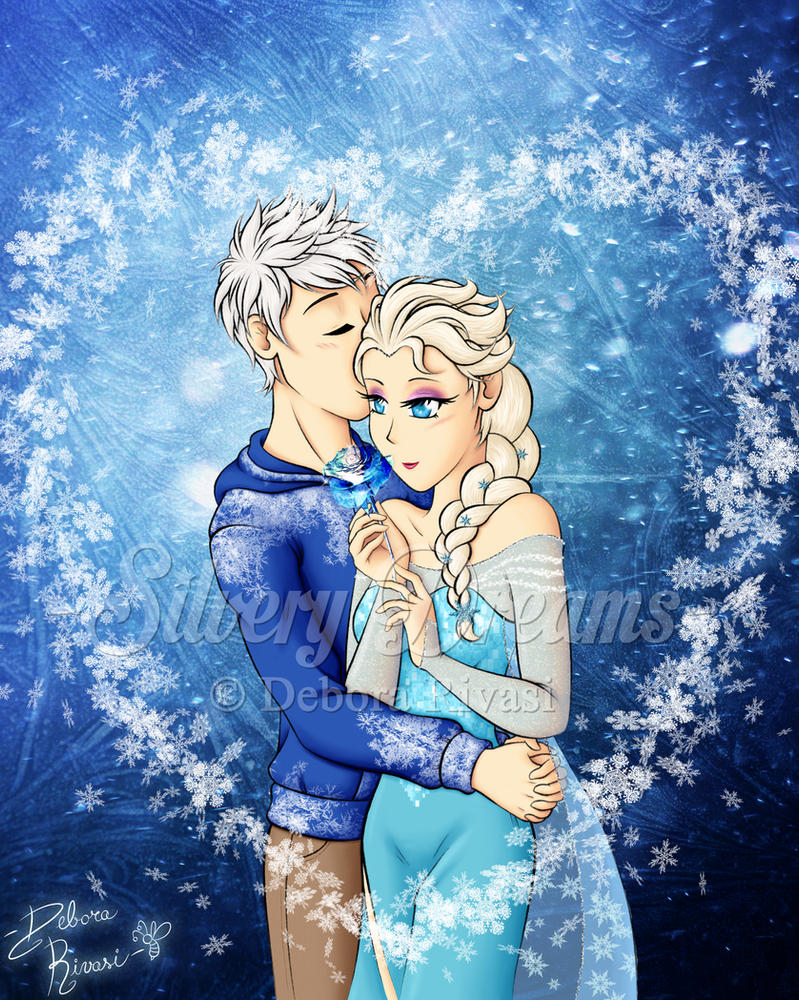 Happy Valentine Day - Jack Frost x Elsa by SilveryLugia