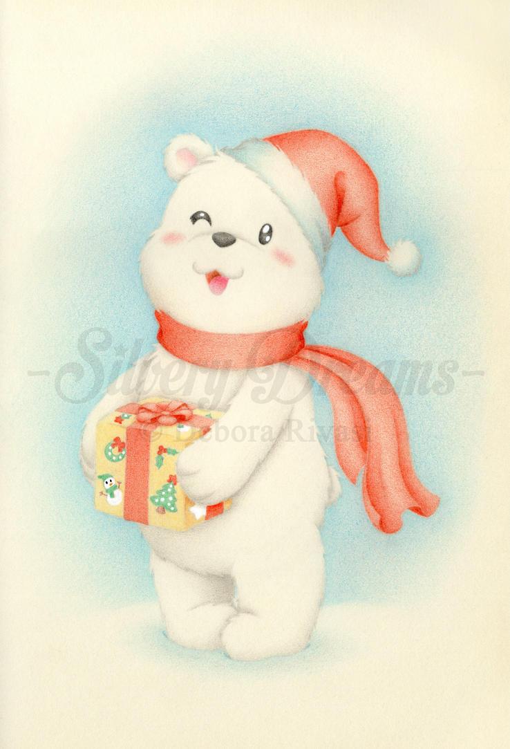 Christmas bear by SilveryLugia