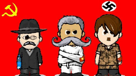 Molotov Stalin Hitler by Cweed1