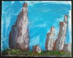 Rock landscape in acrylic by Jacy13