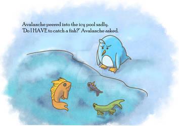 Avalanche the Penguin Vignette Illustration by Jacy13