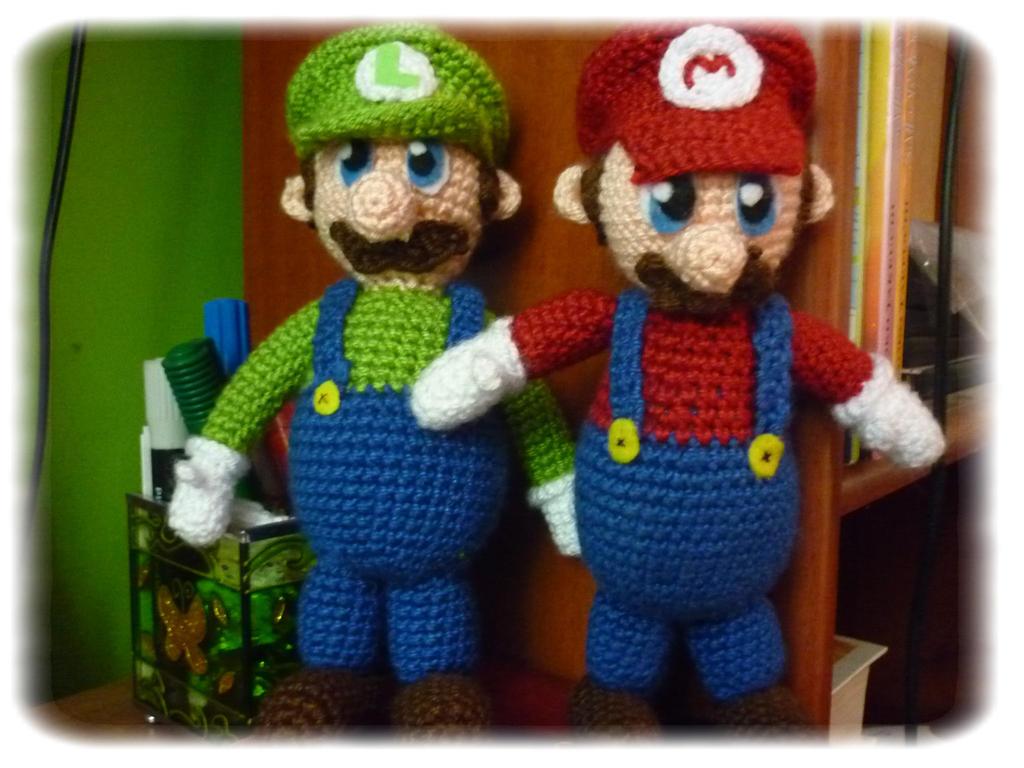 Mario and Luigi ~ Amigurumi Brothers! c: by NindeUndomiel ...