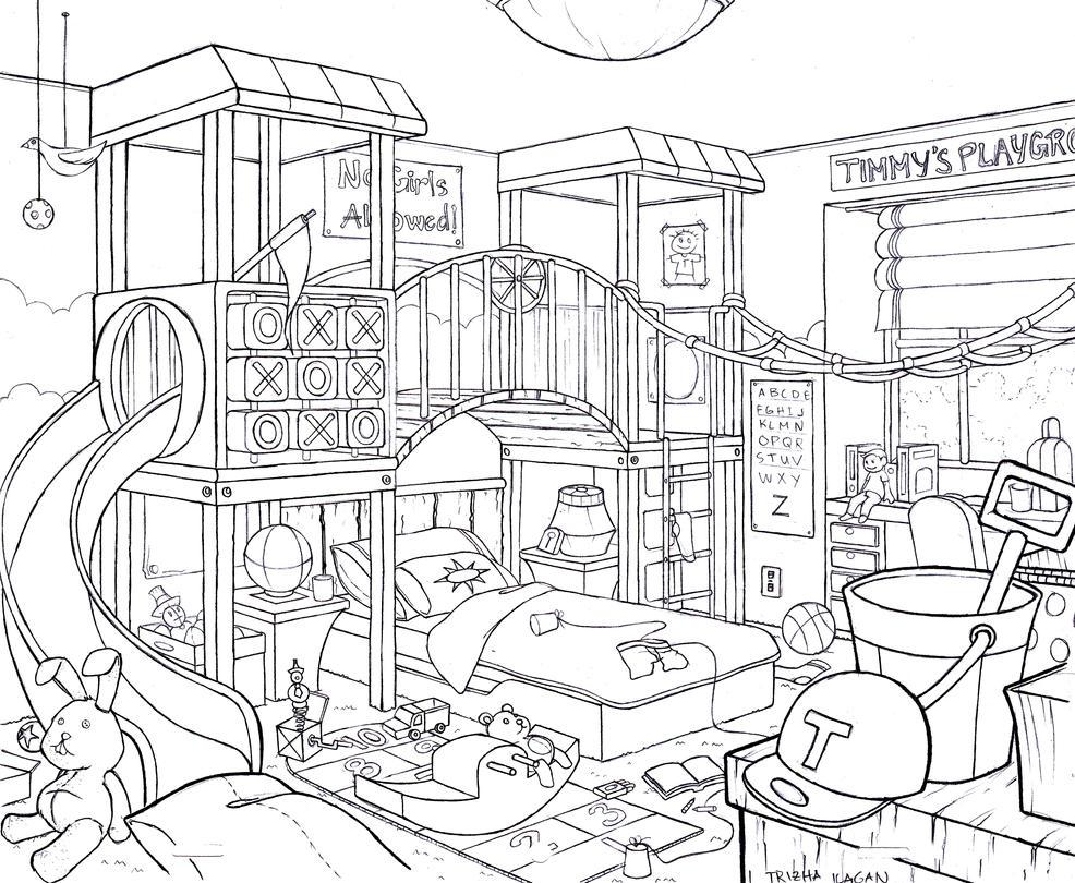 Kid 39 S Bedroom By Lika 143 On Deviantart