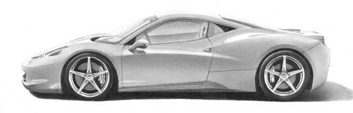 Ferrari 458 Italia by PencilSessions