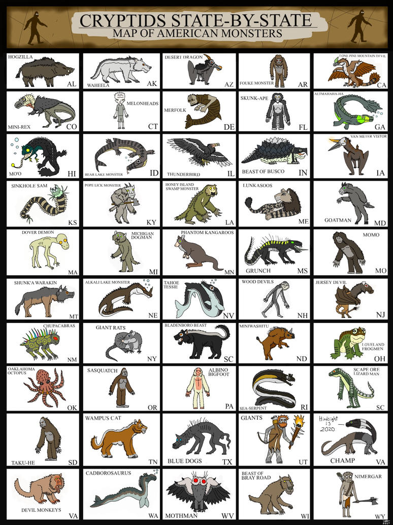 CRYPTIDS STATE-BY-STATE by HUBLERDON