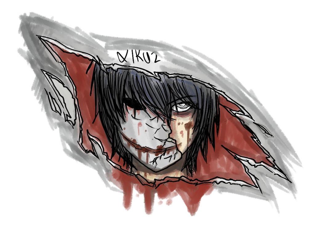 bloody painter - creepypasta (jordan persegati) by Krxiruz