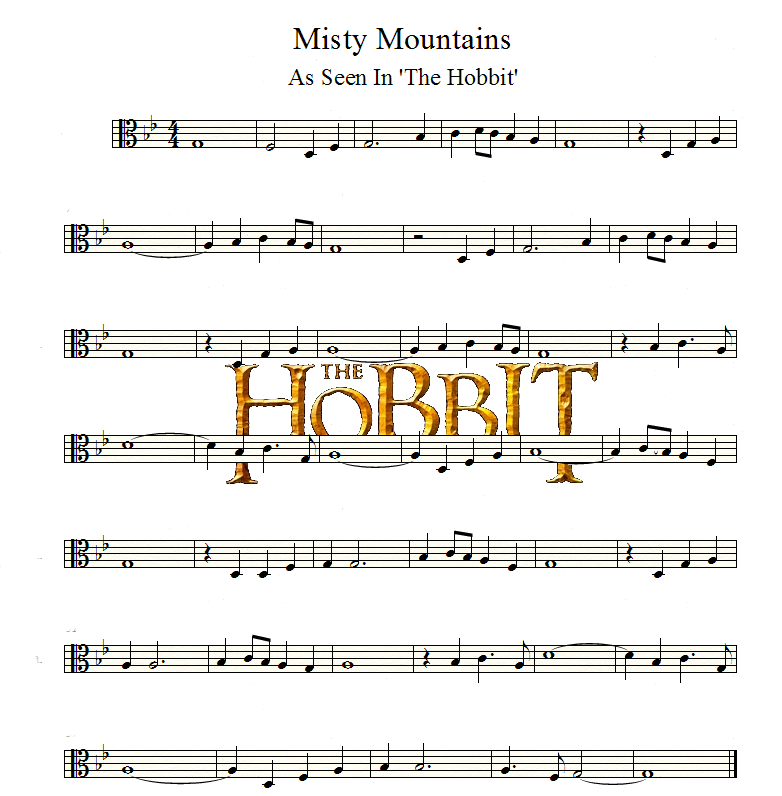 The Hobbit | Misty Mountains | Viola by valdesu