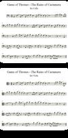 Rains of Castamere   Cello, Violin, Viola   Solos by valdesu