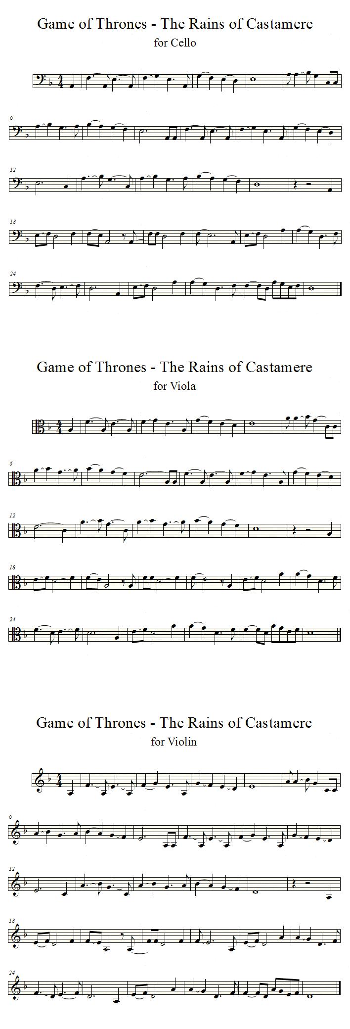 Rains of castamere cello violin viola solos by valdesu on deviantart - Tablature le vent nous portera ...