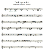 Game of Thrones   The King's Arrival   Violin by valdesu