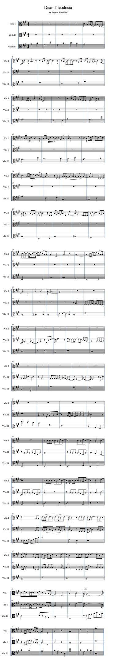 Hamilton   Dear Theodosia   Viola Trio by valdesu
