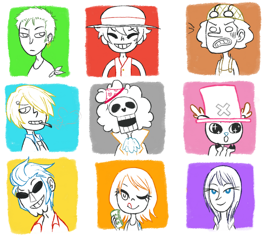 strawhat crew by Miriee