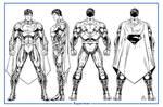 Superman Unchained Model Sheet B/W
