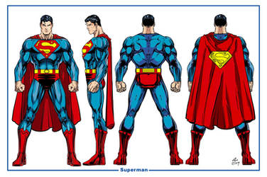Superman  Model Sheet