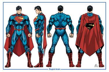 Superman Unchained Model Sheet