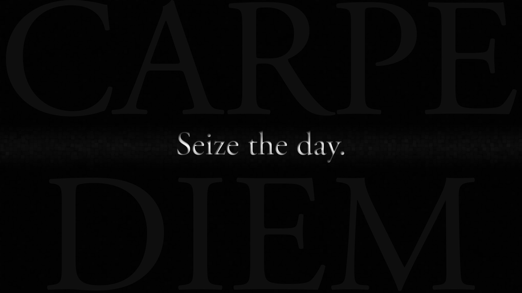 Explain how the 'Carpe Diem' theme is expressed in Andrew Marvell's