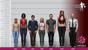 Giantess Dream 2 Height Chart - Before