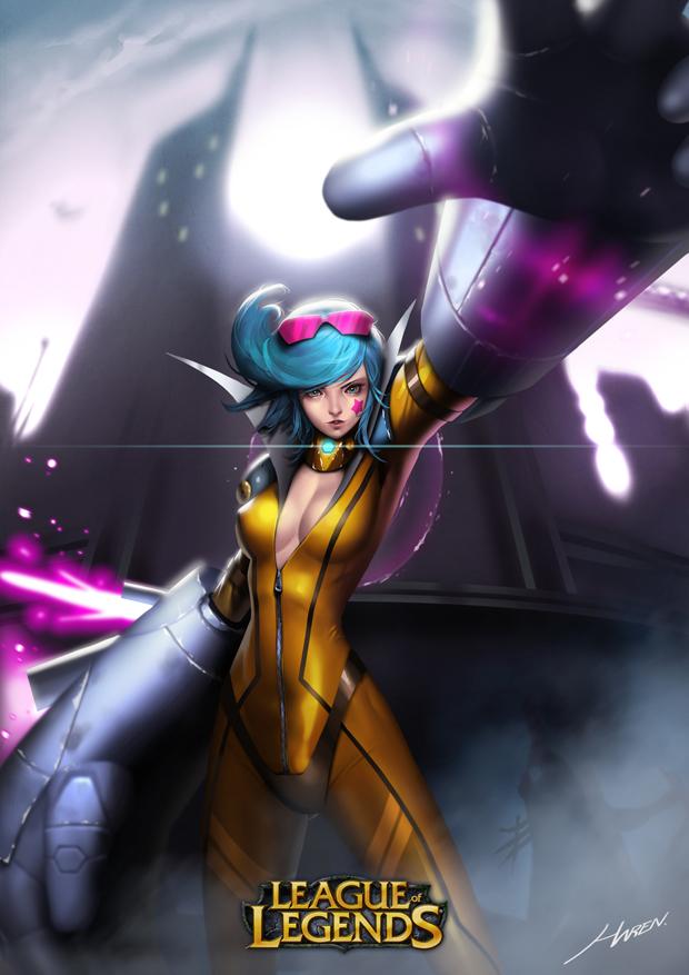 Vi in League of Legends by Hanseul-Kim
