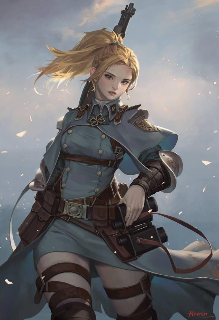 Girl in the Battlefield by Hanseul-Kim