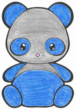 Colored Chibi Panda