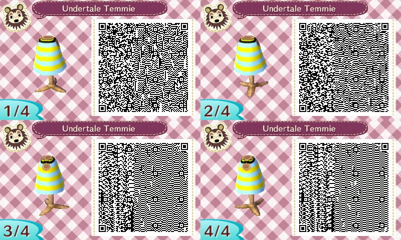 Animal Crossing QR Code - Undertale Temmie by HideInBedroom