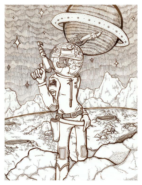 Space Cowboy by vivalarobots