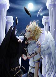 Two Angels of the same heart by Oddeyesyuya
