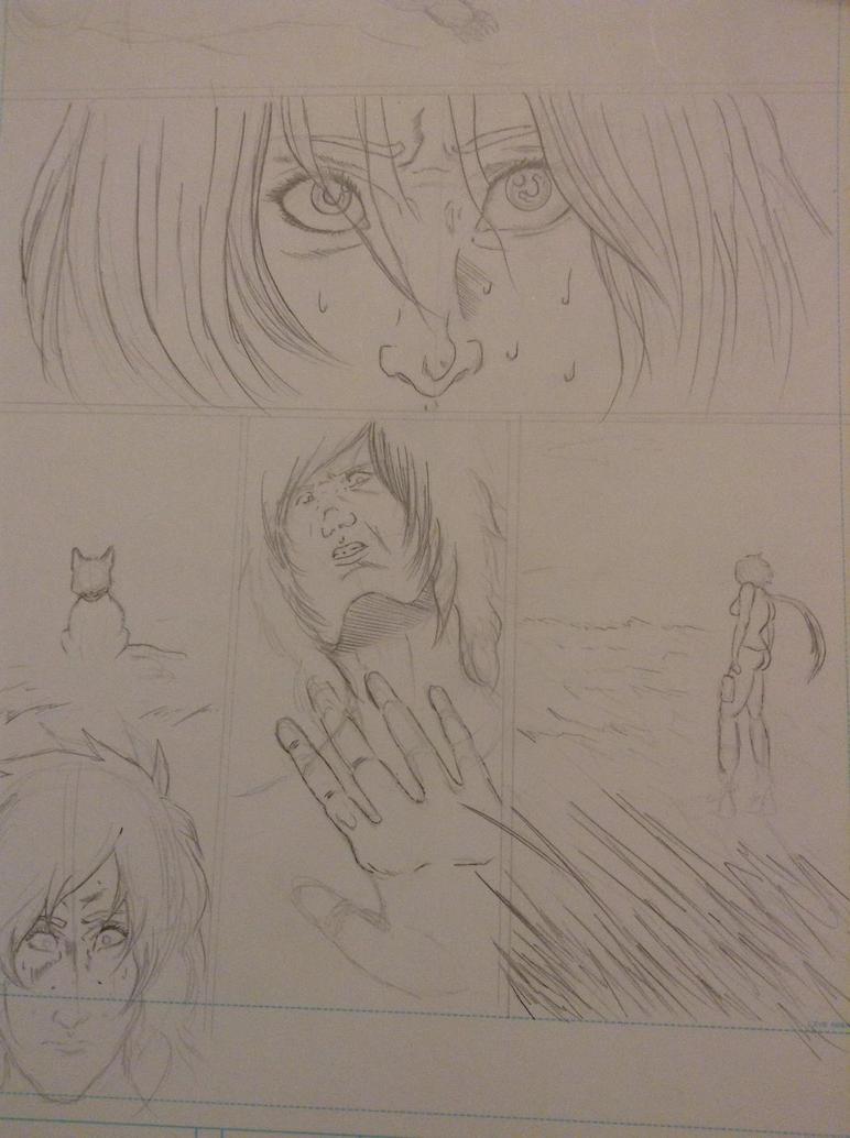 Okami neko pencil page by zeldalegends4525