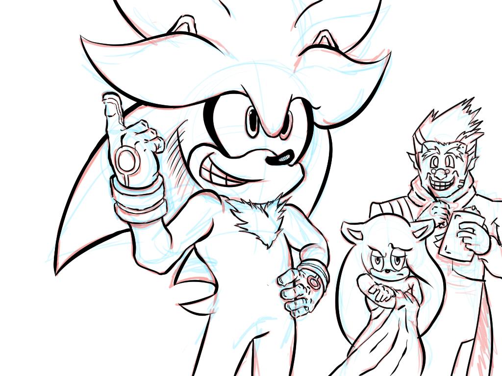 Silver Sketch~ Inks by zeldalegends4525